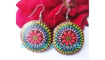 African Woods Earring Painted
