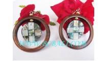 Ethnic Fashion Wood Shell Earrings