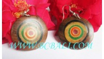 Sono Wooden Earrings Painting
