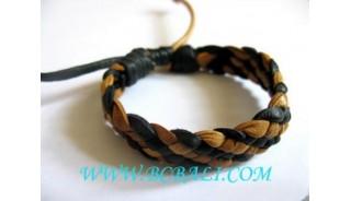 Black Combination White Leather Bracelets