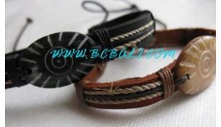 Bone Leather Bracelets