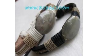 Original Stone Leather Bracelets