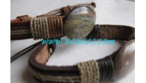 Stone Crafted Leather Bracelets