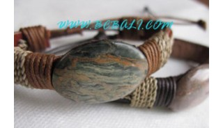 Stone Original Leather Bracelets