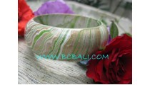 Abstract Color Wooden Bangles