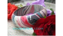 Mix Color Wooden Painting Bangle