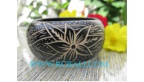 Wood Bangles Carving Fashion