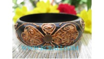 Wooden Hand Painted Bangles