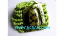 Bead Bracelet wood buckle