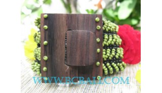 Bead Bracelet Buckle Wood