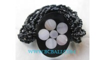 Bead Bracelets With Resin Shells