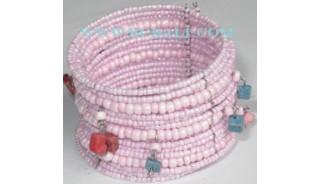 Bracelets Beaded Woman Coral