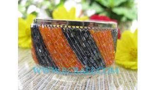 Mix Color Bead Bracelet Steel