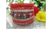 Orange Bead Bracelet Fashion