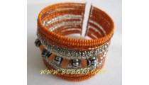 Orange Beads Bracelets