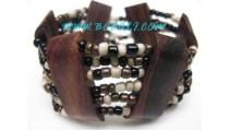 Woman Beads Wooden Bracelets