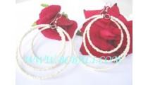 Women's Beaded Earrings Triple Circle