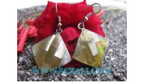 Golden Shell Earrings Jewelry