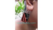 Great Red Coral Earring Resin Fashion