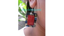 Red Coral Pawa Earrings