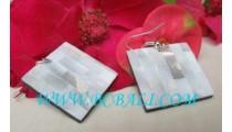 White Shell Earrings Resin