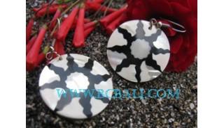 Tattoo Shell Pearl Earrings