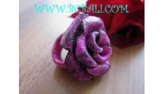 Purple Flower Shape Rings