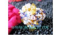 Multi Color Bead Stone Fashion Rings