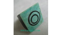 Turquoise Spiral Resin Finger Rings