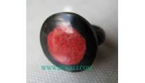 Woman Coral Finger Rings
