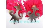 Wooden Earrings Carved Earring