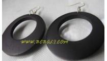 Black Earring Wooden