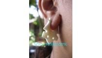 Carved Bone Earrings Ladies