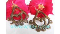 Carving Wooden Coco Earrings