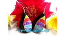 Colorful Wood Earring