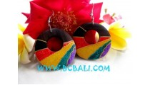 Ear Stud Jewelry Rainbow Motive