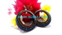 Earring Handpainting Rainbow Color