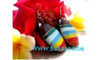Wooden Earring Hand Painting