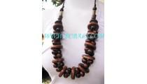 Angela Nature Wood Necklaces