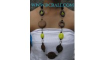 Necklaces Glasses With Sono Wooden