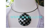 Chess Stainless Shell Choker Necklace
