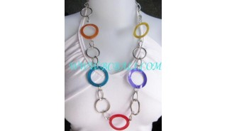 Rainbow Shell Necklaces