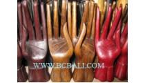 Finger Rings Wooden Display