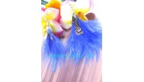 Fashionable Earrings Feather