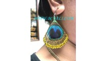 Feather Earrings Handmade