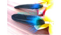 Ladies Feather Earrings Handmade
