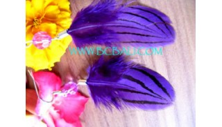 Painted Feather Earring