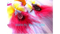Painted Feather Earring For Women