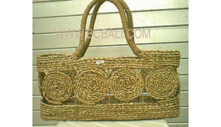 Jute Straw Handbags Natural