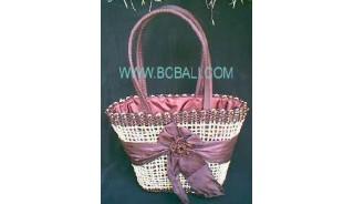 Ladies Fashion Straw Flower Bags